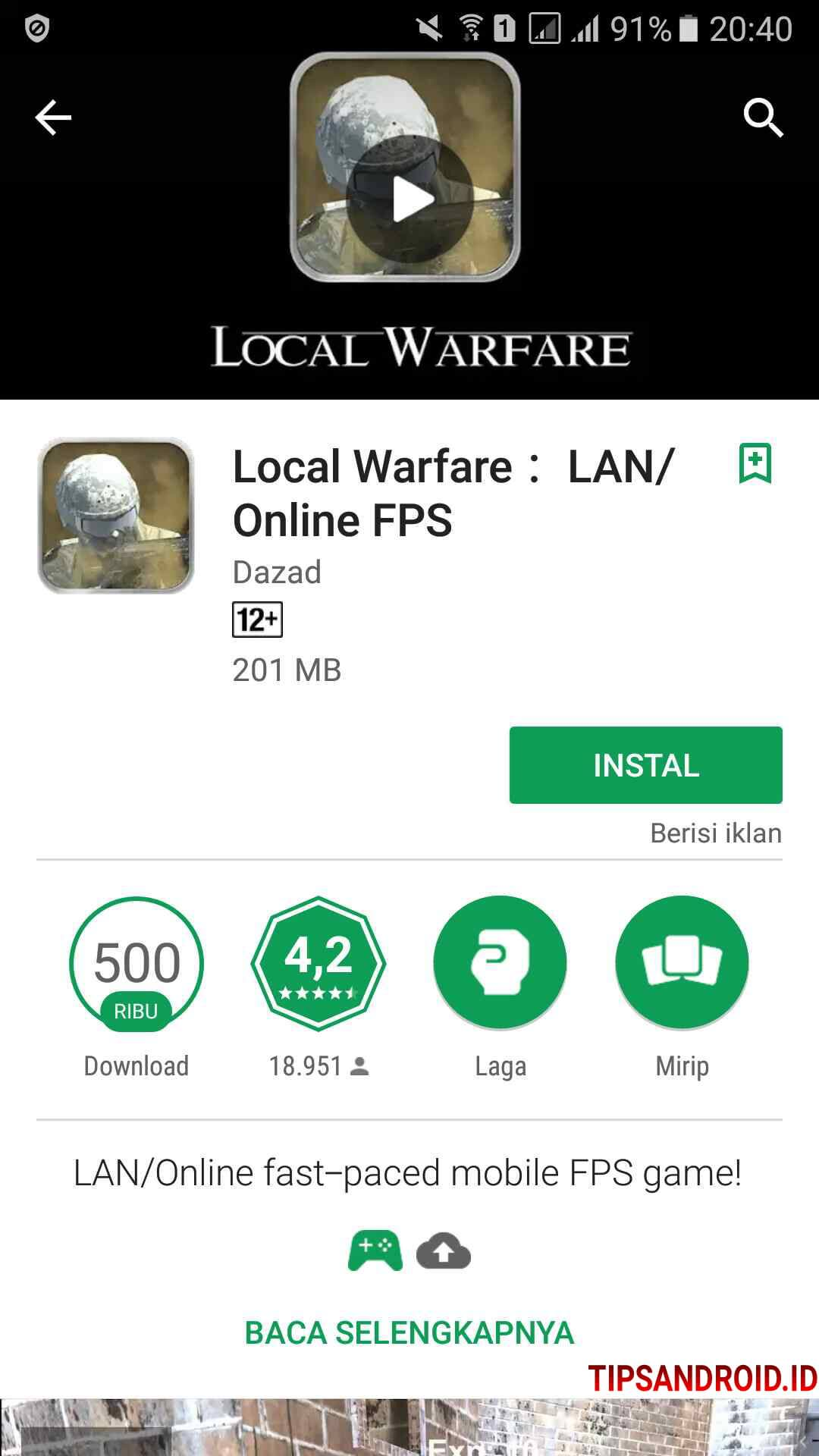10 Game Offline Android Bisa Main 2 Multiplayer Via Wifi Bluetooth