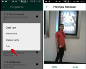 Trik Buat Background Latar WhatsApp Dengan Foto Sendiri di Android 8