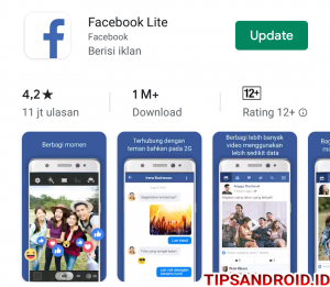 Cara Buat Video Live Streaming di Facebook Lite Android 1