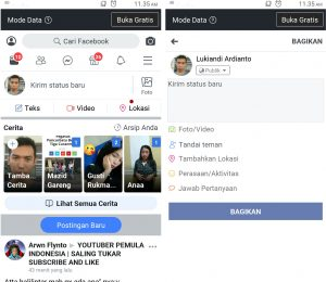 Cara Buat Video Live Streaming di Facebook Lite Android