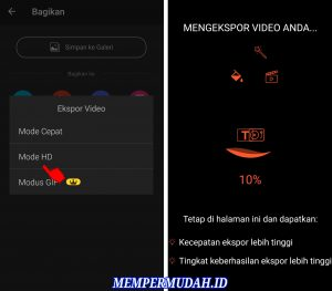 Cara ExportEdit Video HD Ukuran File Kecil di Smartphone Android 5