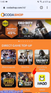 Cara Top Up Call of Duty Mobile di Codashop Android 4