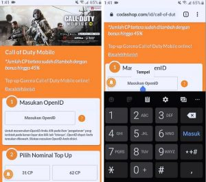Cara Top Up Call of Duty Mobile di Codashop Android 5