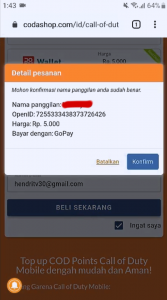 Cara Top Up Call of Duty Mobile di Codashop Android 7
