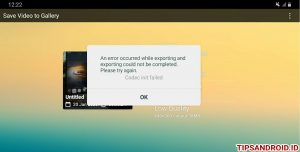 Trik Mengatasi Error Export Kine Master Codex init failed Android