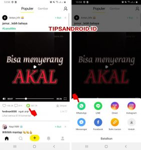 Cara Membagikan Video CocoFun ke Status Whatsapp Android 5