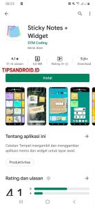 Cara Menampilkan Catatan Melayang di Home Screen HP Android 1