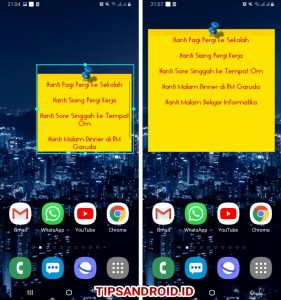 Cara Menampilkan Catatan Melayang di Home Screen HP Android 7