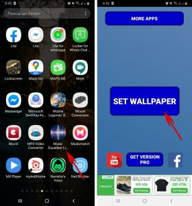 Cara Pasang Wallpaper EqualizerVisualizer Musik di HP Android 2