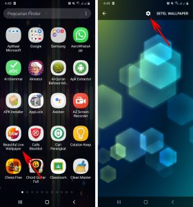 Cara Pasang Wallpaper EqualizerVisualizer Musik di HP Android 6