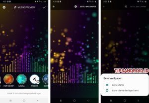 Cara Pasang Wallpaper EqualizerVisualizer Musik di HP Android 7
