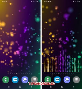 Cara Pasang Wallpaper EqualizerVisualizer Musik di HP Android 8